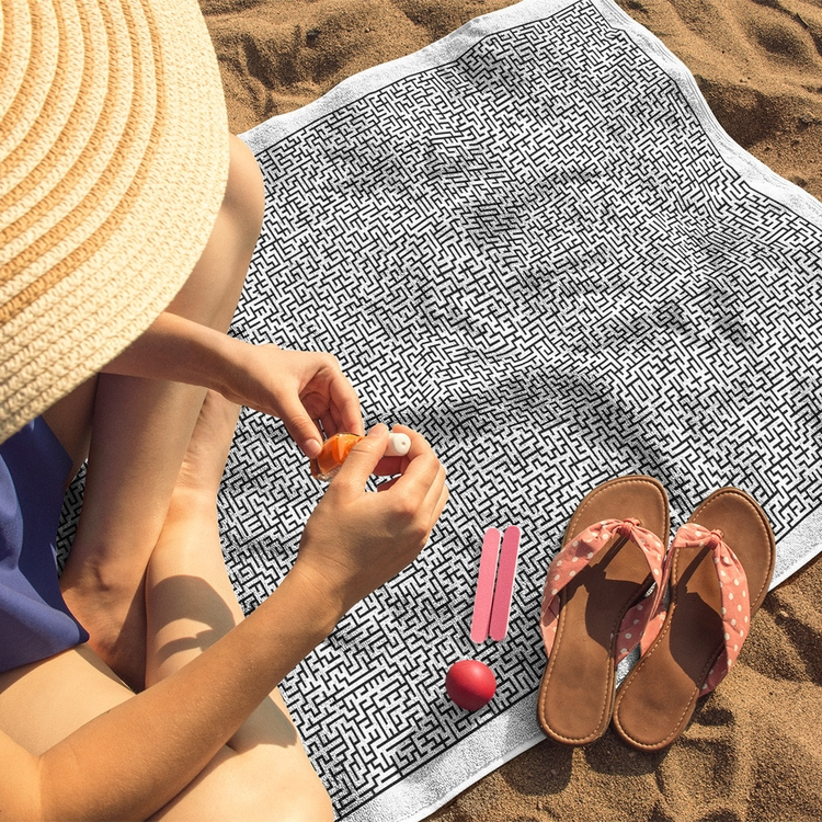 Maze Beach Towel bored pool bea - solehab | ello
