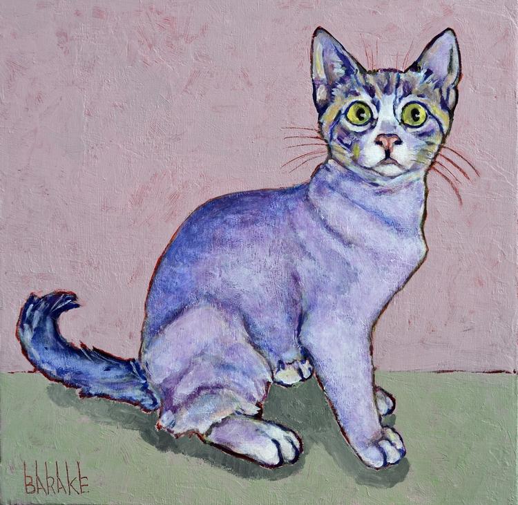 FAUVIST CAT canvas - cat, portrait - barakesculptor | ello