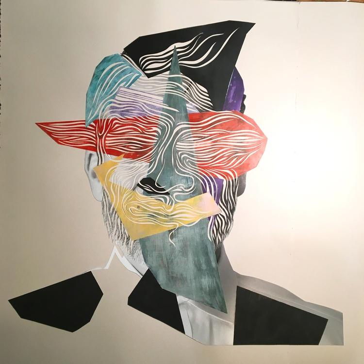 portrait, artcollector, art, papercutting - marcogallotta | ello