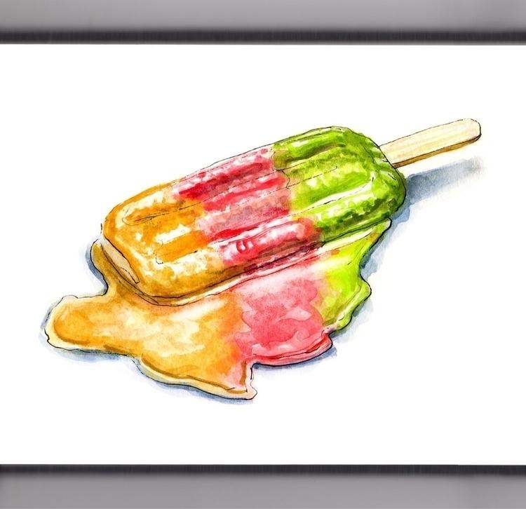 Melting - watercolor, watercolour - doodlewash | ello