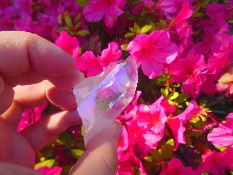 Aura crystals bring joy - moonify_ | ello
