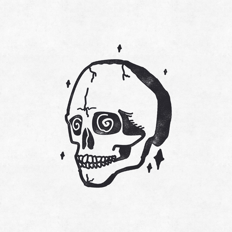 Crazy Skull - skull, graphicdesign - charleypangus | ello