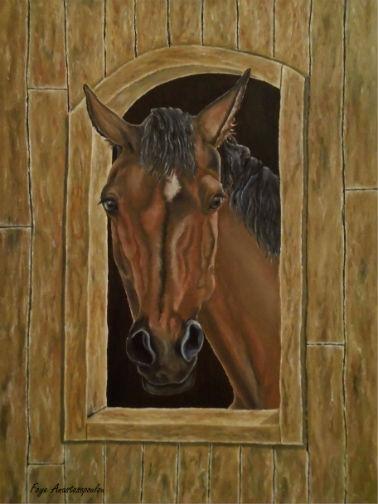 horse, portrait, art, painting - fayeanastasopoulou | ello
