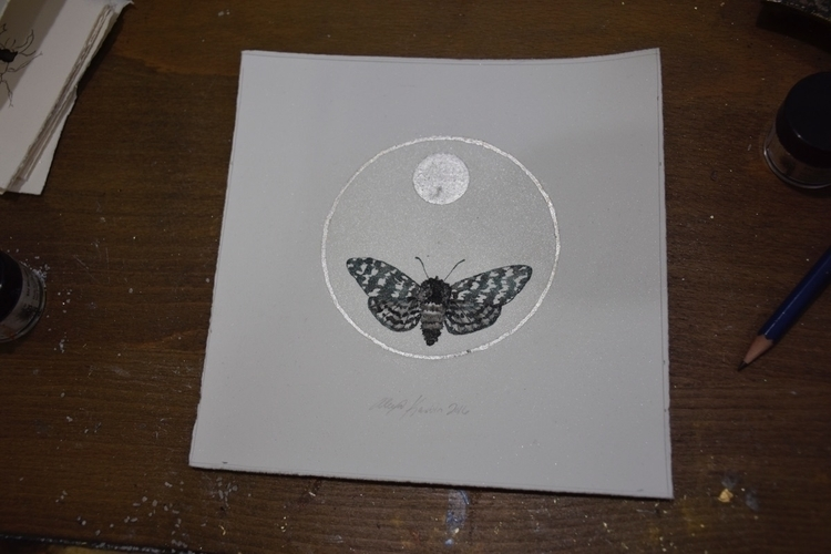 sold moth weeks - silver, metallic - alexakarabin | ello