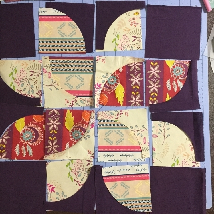 cut. block laid pieces sewn - quilter - thesewinglady | ello