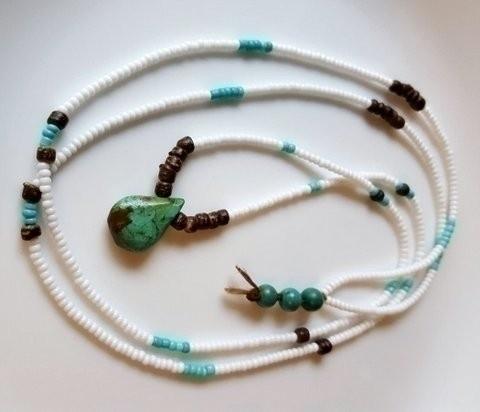 handmade, longnecklace, turquoise - stormynitedesigns | ello