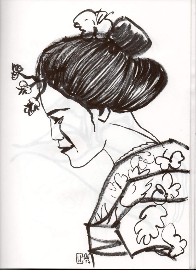 Book Sketches mannen-mouhitsu - pen - lcs-illustration | ello
