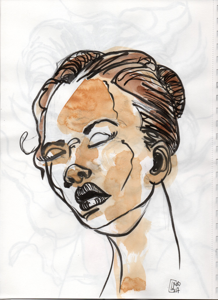 Book Sketches mannen-mouhitsu - pen - lcs-illustration   ello