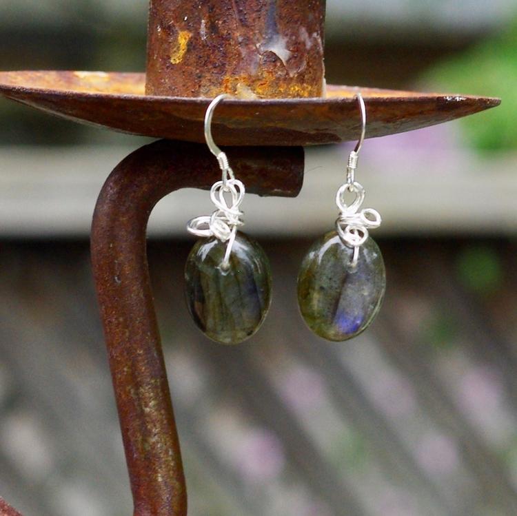 Labradorite earrings listed Ets - audacitywear | ello
