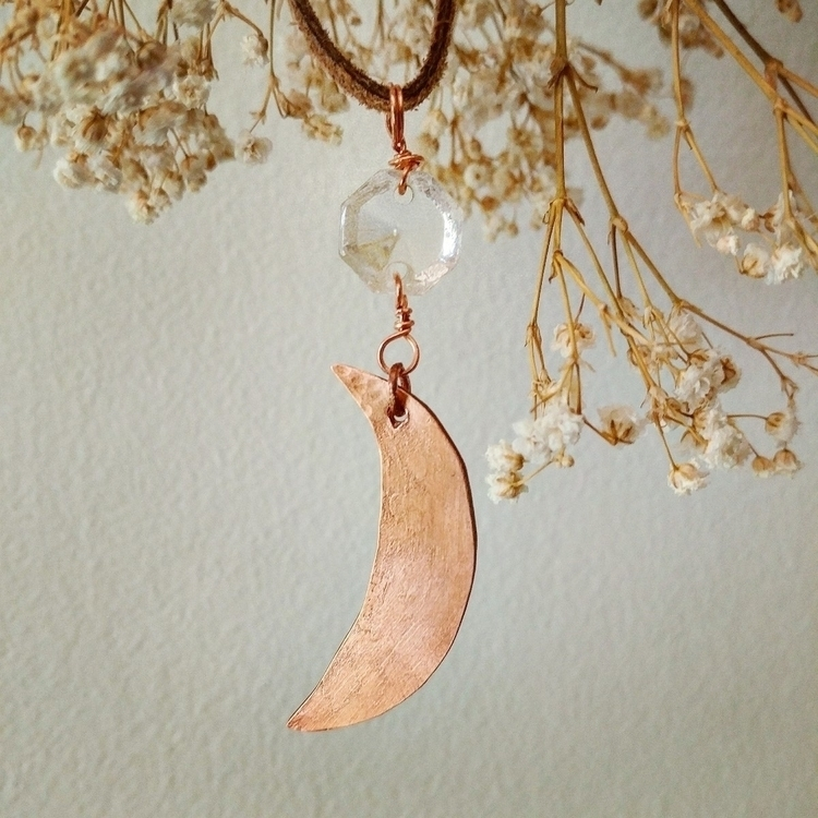 Textured copper moon reclaimed  - sendmedeadflowers | ello