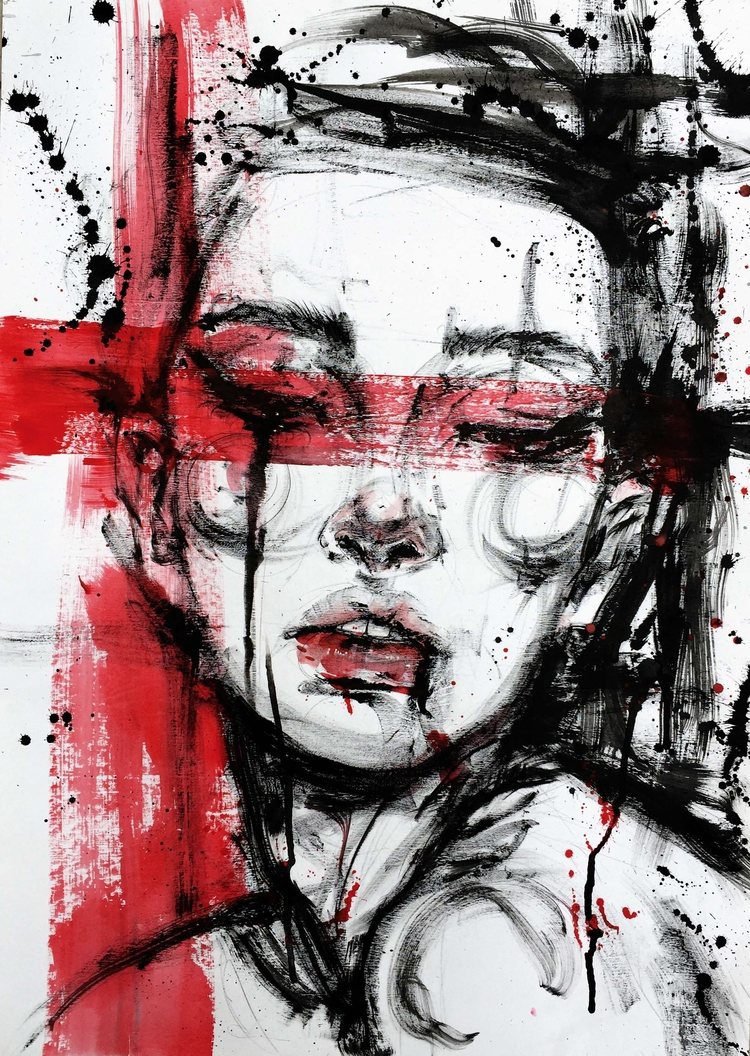 Silent Brushstroke_02 - fashionillustration - ibreathart | ello