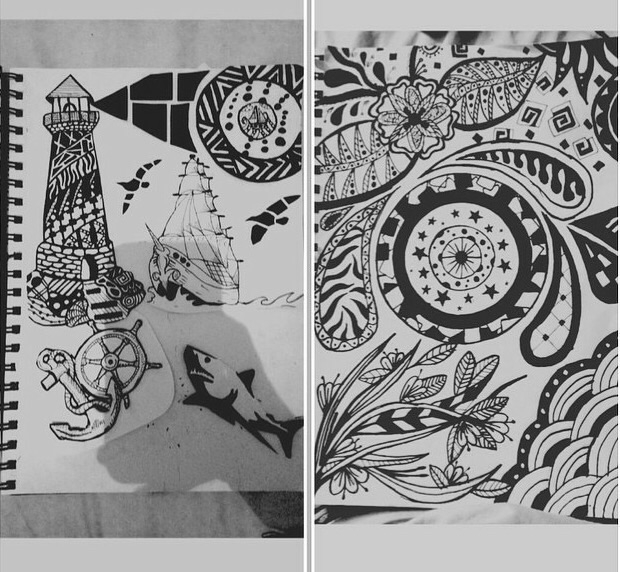 Doodling - Doodle, Drawing, Henna - kristalcave | ello