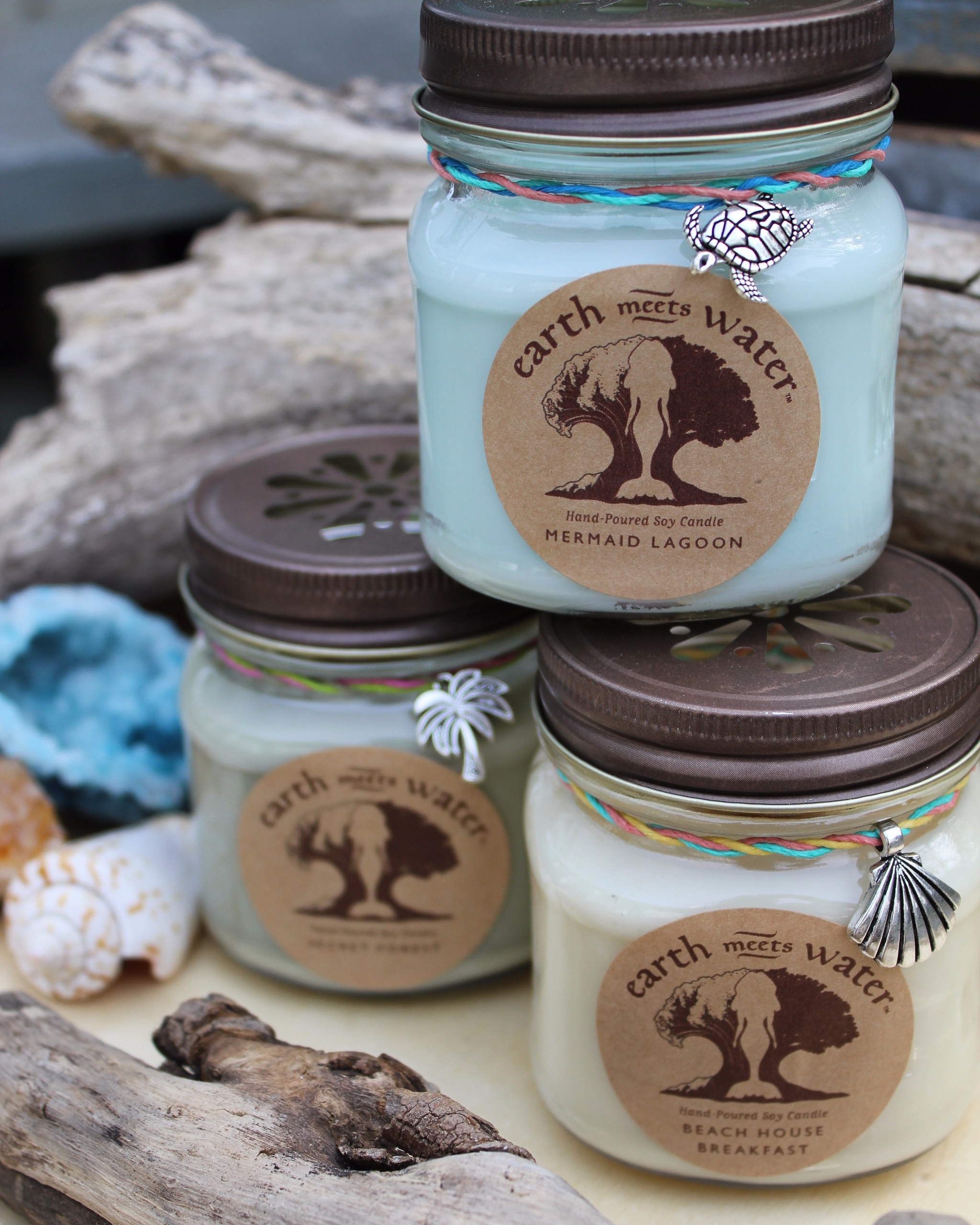 8 oz hand poured soy candles - soycandles - earthmeetswater | ello