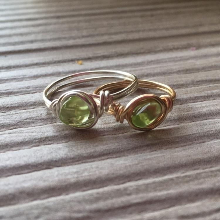 Pretty rings Peridot stone happ - mooncatcrystals | ello