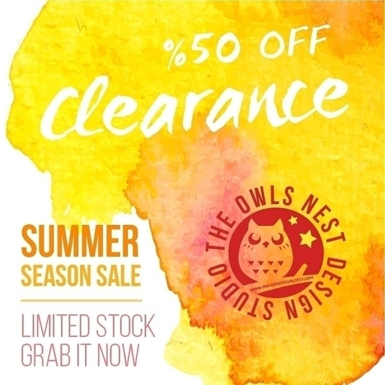 Big Summer Clearance Selected r - owlsnestdesignstudio | ello