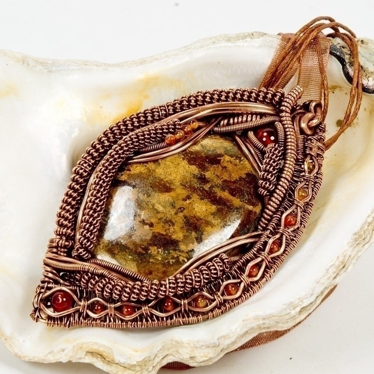 Bronzite Copper statement penda - owlsnestdesignstudio | ello