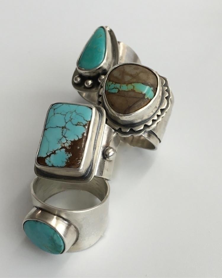 Turquoise rings. Etsy shop. .  - srjewelry | ello