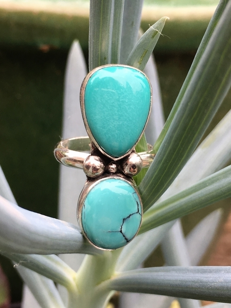 egg blue - ring, Turquoise, turquoisejewelry - cupidsmoonjewelry | ello