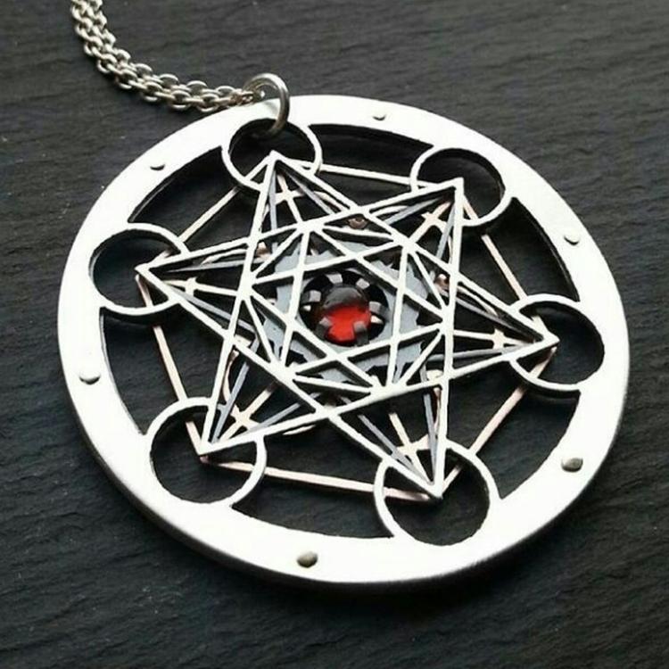 Red Garnet Cube Pendant- handcu - jeanburgersjewellery | ello
