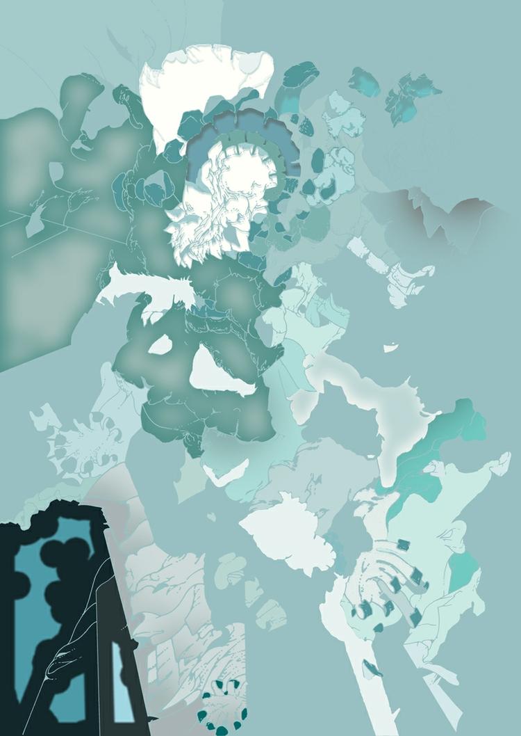 Wip Landscape - rotring, rapidograph - current_debris   ello