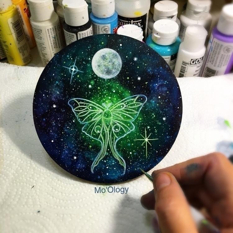 Luna moths sold - art, artist, orignalart - mo_ology | ello