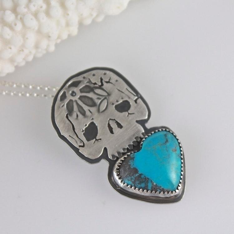 Love grave skull turquoise hear - gemini_lotus_designs | ello