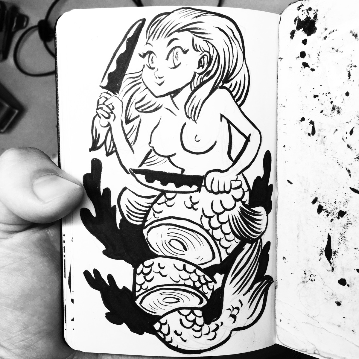 inflicted sashimi - mermay, mermaid - royallyeric | ello
