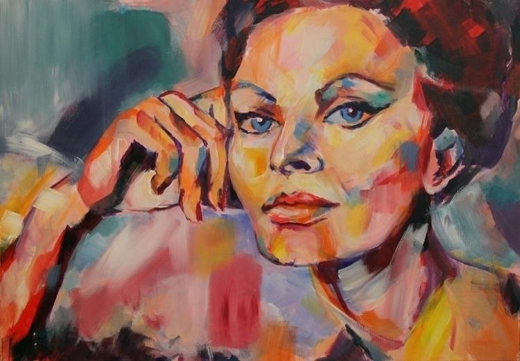 Sophia Loren beautiful - acrylic - dimamog | ello