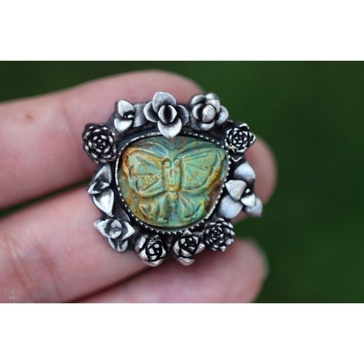 unique turquoise carved butterf - arrowsandstone   ello