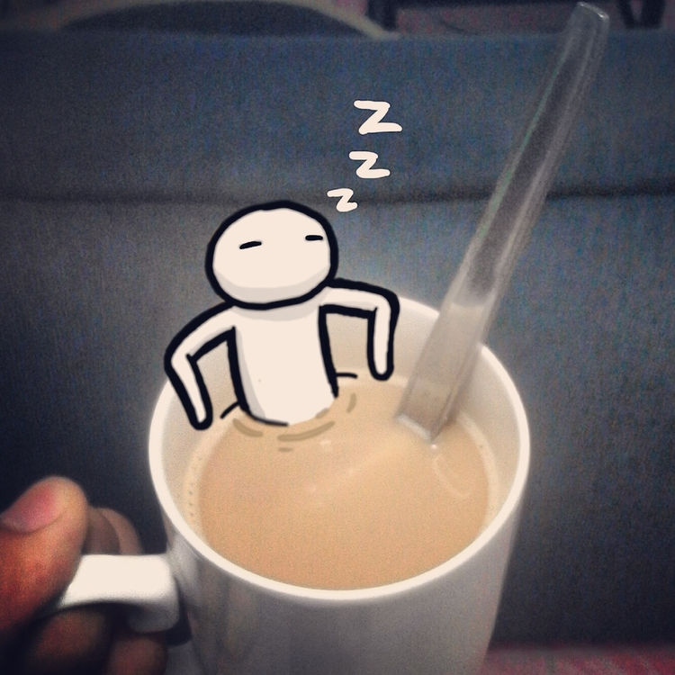 nights - doodle, photoshop, coffee - toasterpancakes | ello