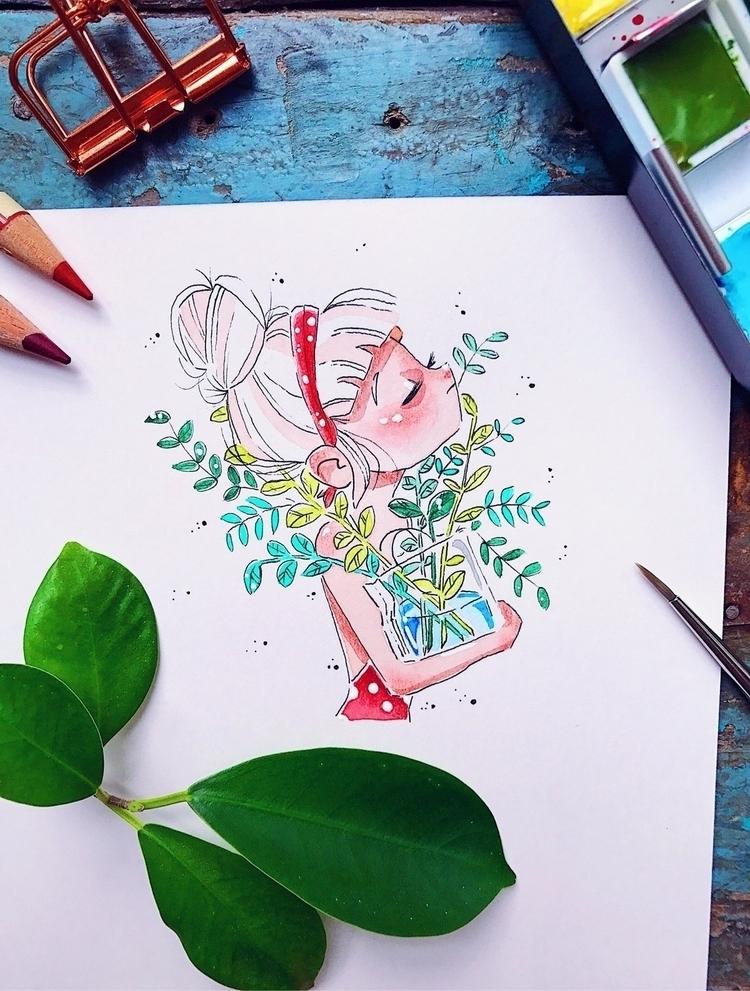 artwork#watercolor#illustration#drawing#artist - sarafaber | ello