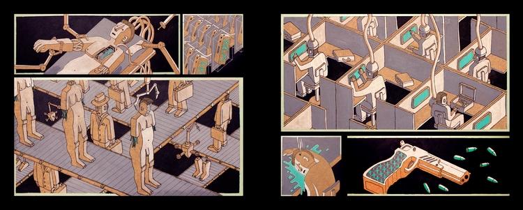 illustration, Posca, Painting - tomrouleau   ello