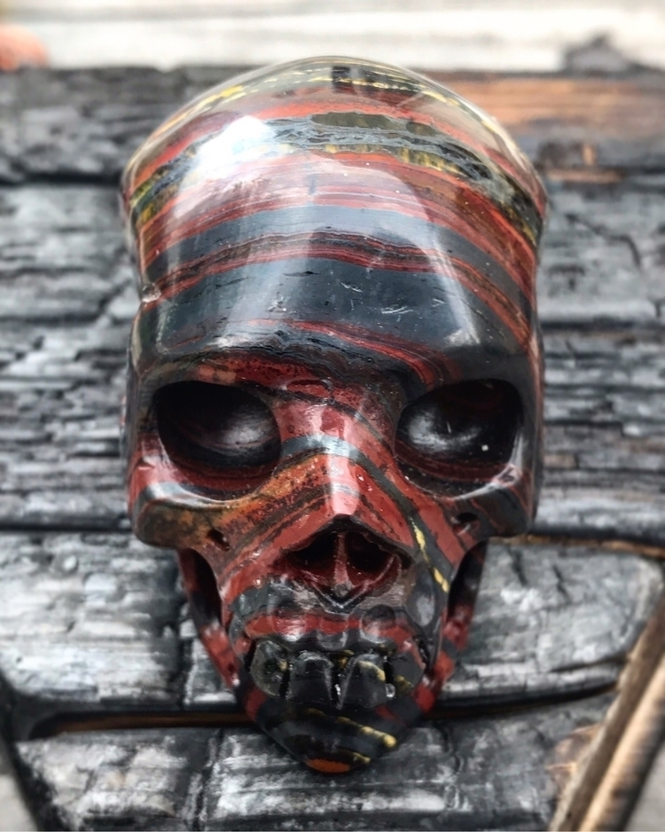Iron Tigers Eye Skull Twistedle - twistedleafstudio | ello
