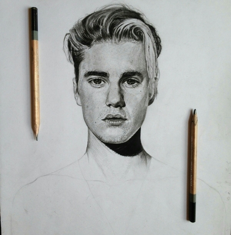 Justin Bieber drawing progress - ashutosht82 | ello