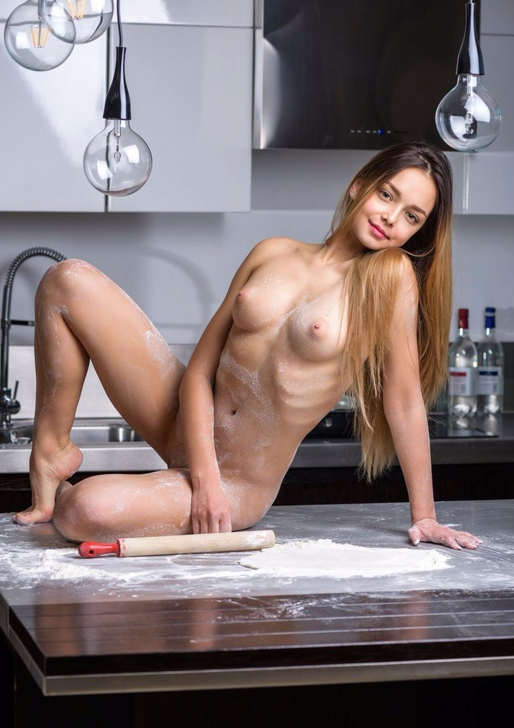 Naked cooking - nude, naked, messy - nudebabes | ello