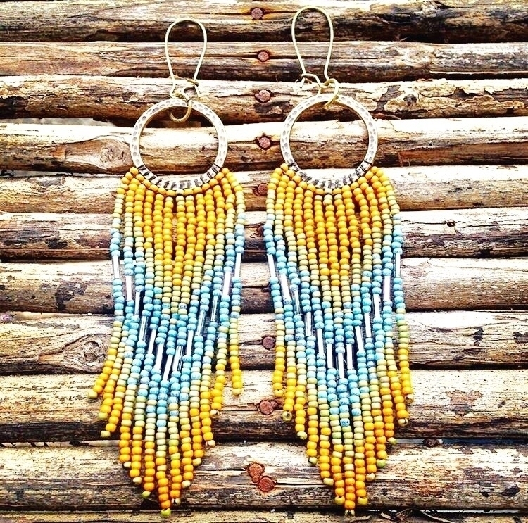 Sunshine earrings! perfect summ - wildhoneypiedesign | ello