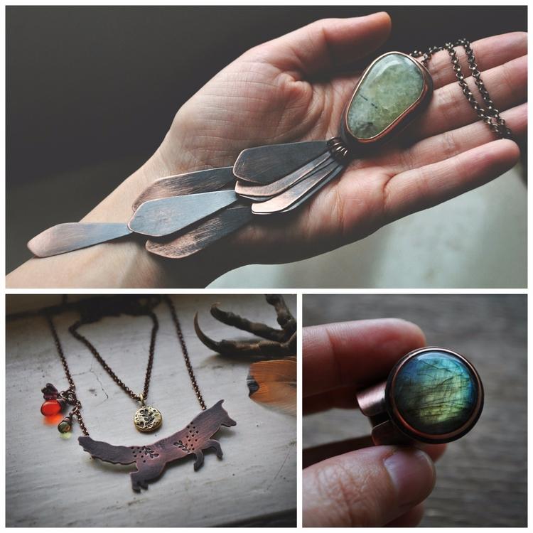 Collage pieces - jewelry, copperjewelry - twistedjewelry | ello