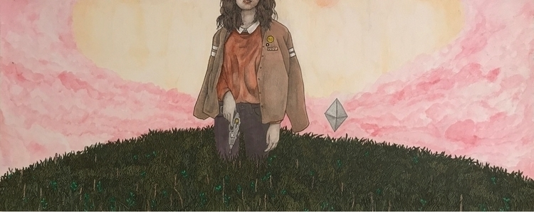 Hilltop - art, artist, studio, girl - everyonesmile | ello