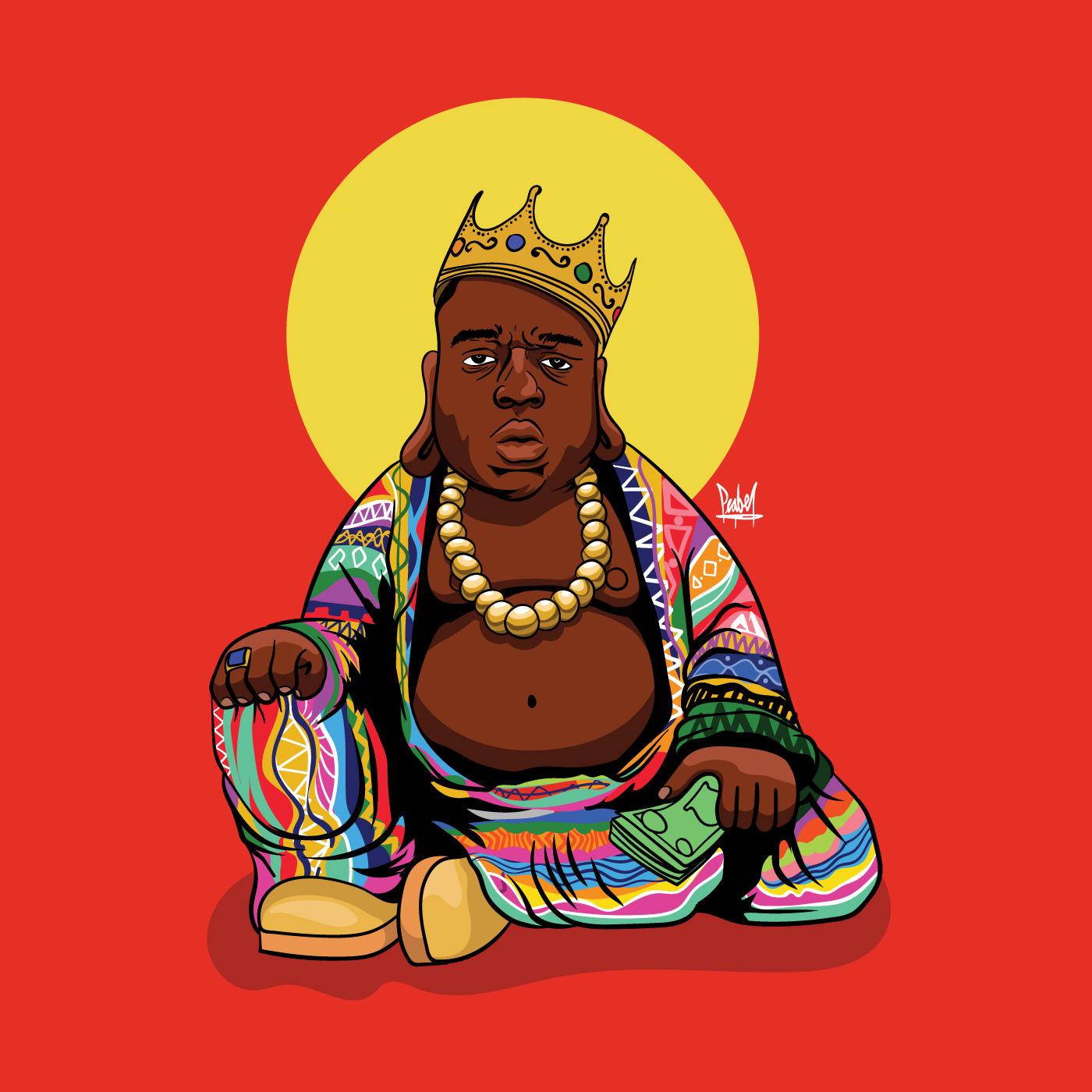 Biggie Buddha. wanted haha - peabe | ello
