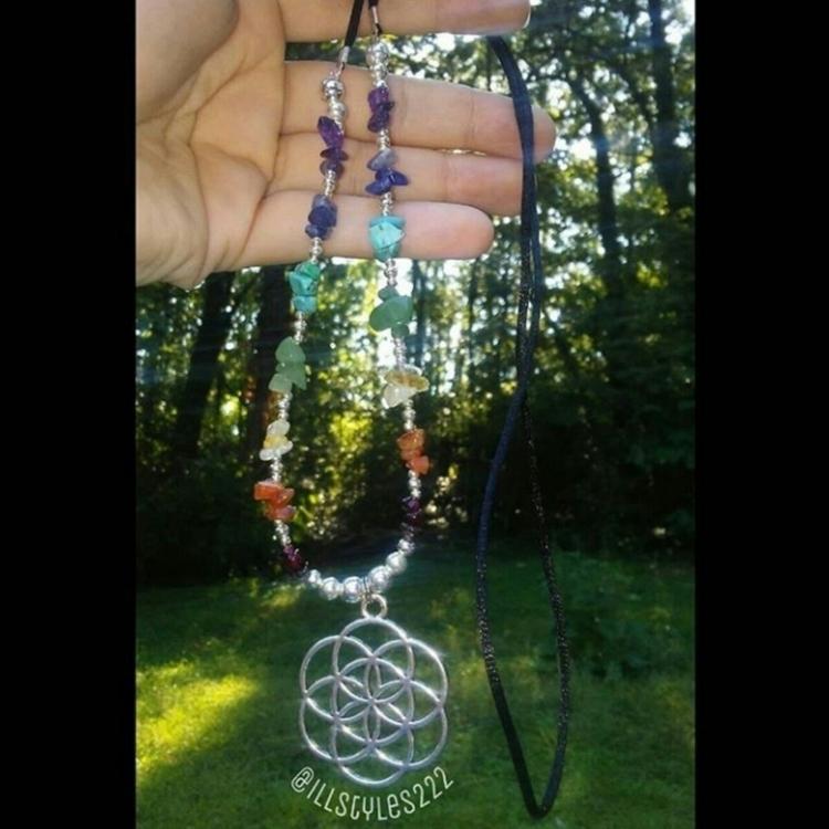 chakra flower life pendant neck - illstyles222 | ello