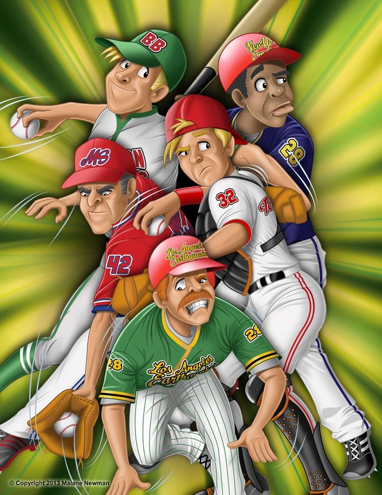 composite baseball characters d - malanenewman | ello