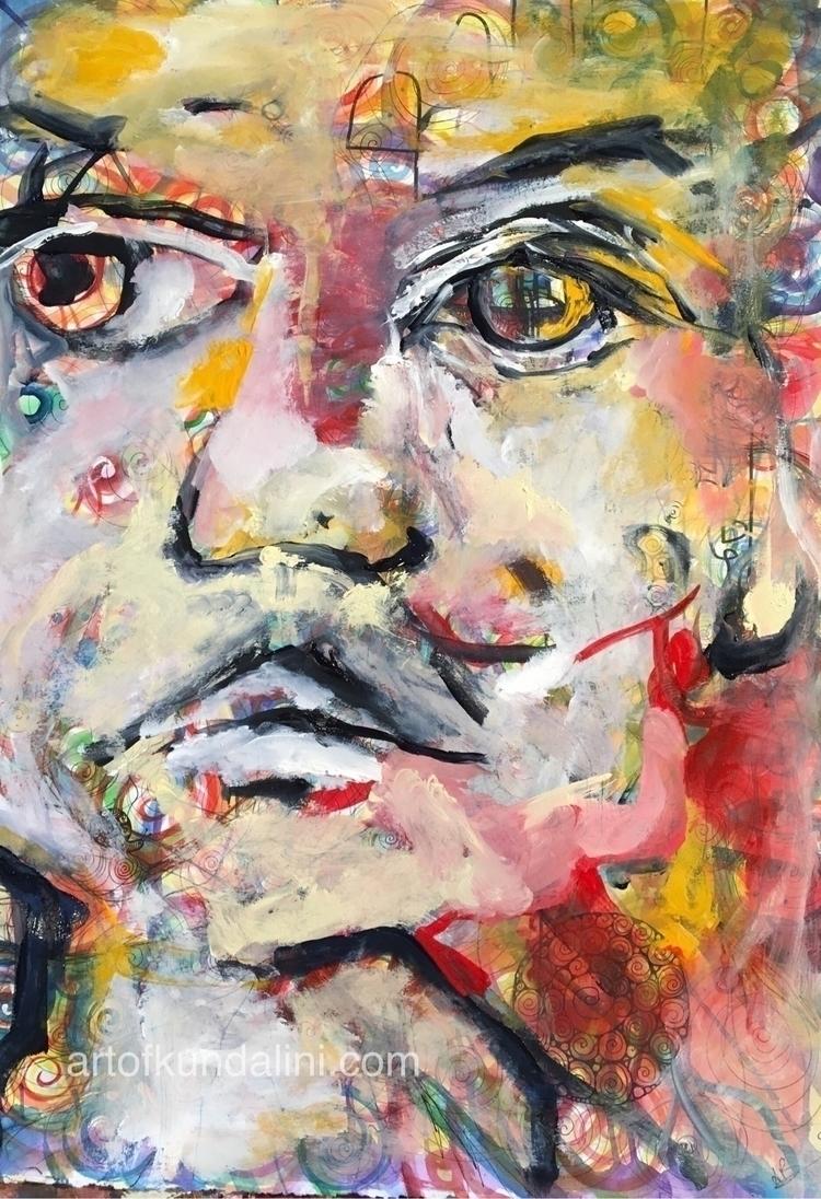 portrait 42/100 colours acrylic - arnabaartz | ello