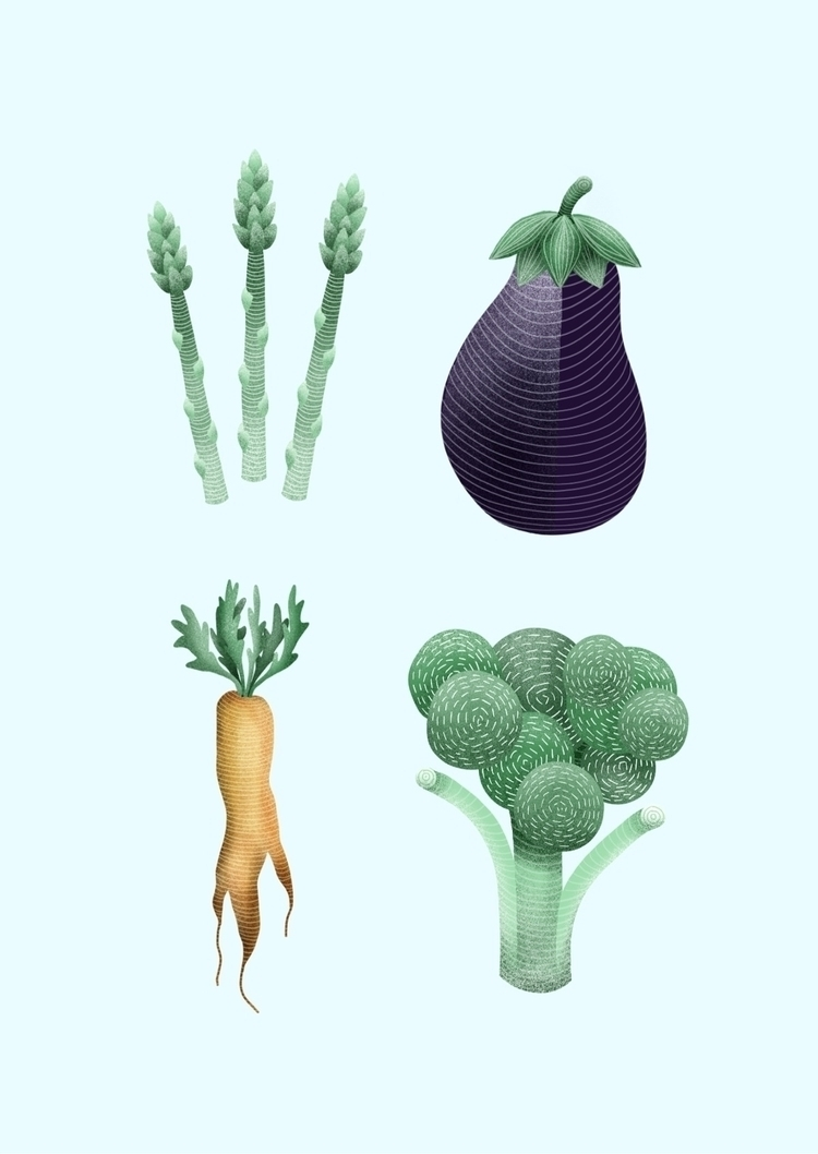 greens, illustration, texture - juulstudio | ello