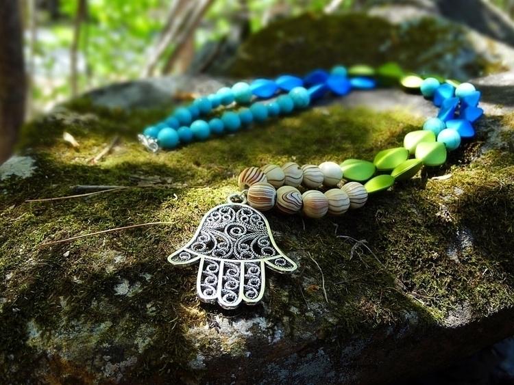 Hamsa Hand Pendent necklace per - jenniferscraftdesign | ello