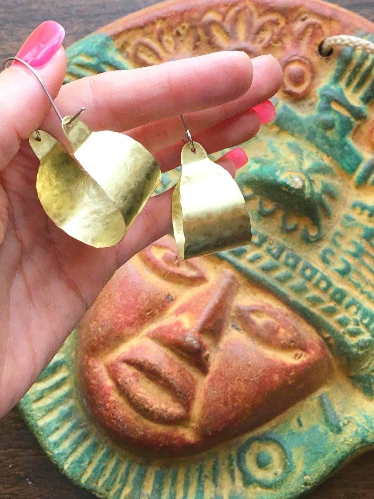 request offer scoop hoops brass - asotojewelry | ello