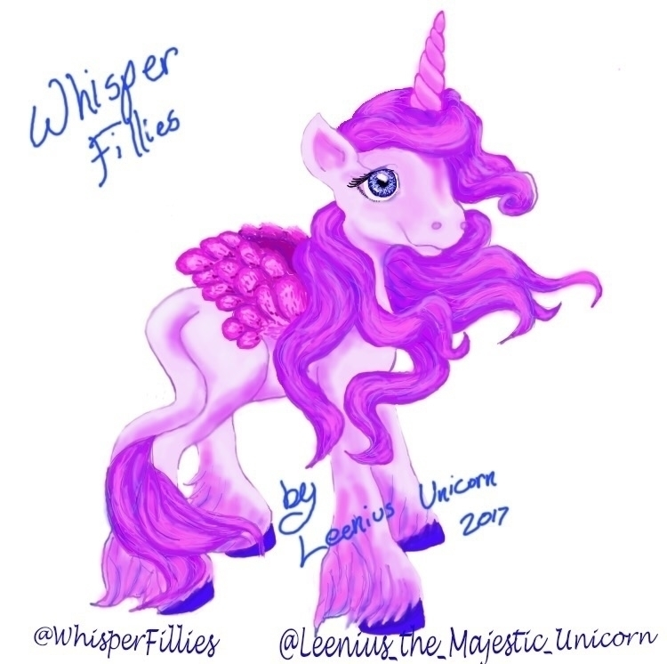 drawings Whisper Fillies art co - leenius_the_majestic_unicorn | ello