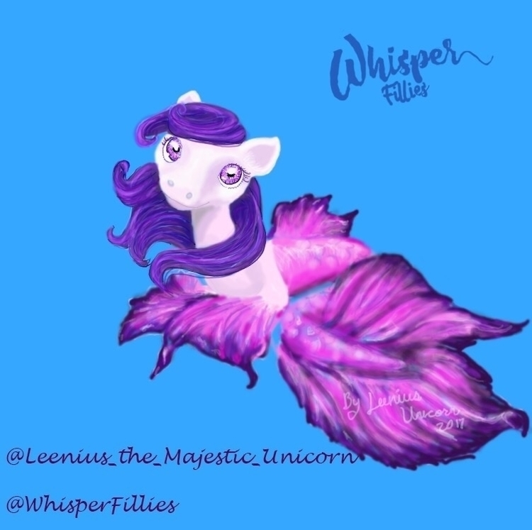 drawing Whisper Fillies contest - leenius_the_majestic_unicorn | ello