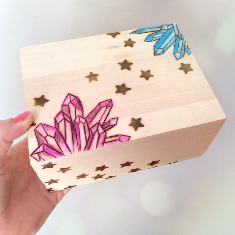 making Crystal Star Trinket Box - wildskyla | ello