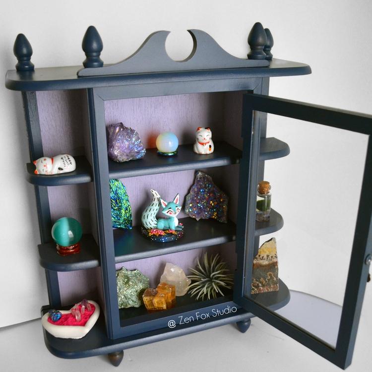 Repainted Curio Cabinet intenti - zenfoxstudio | ello