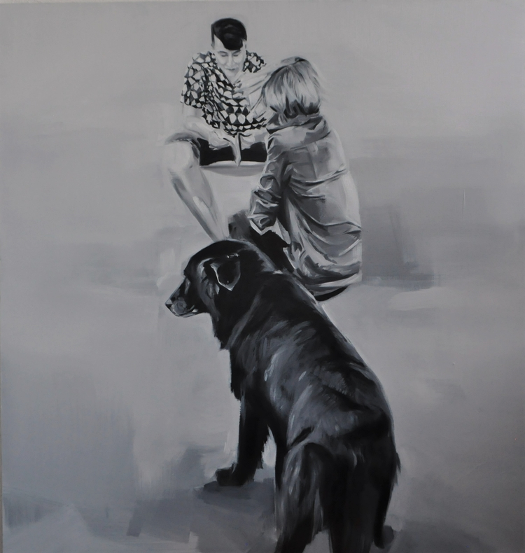 Love, oil, canvas, size 95x90 c - judytakrawczyk | ello